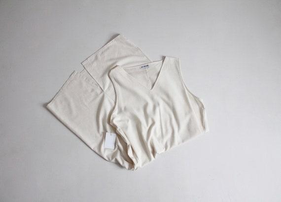 white raw silk dress | nubby silk dress | long sil