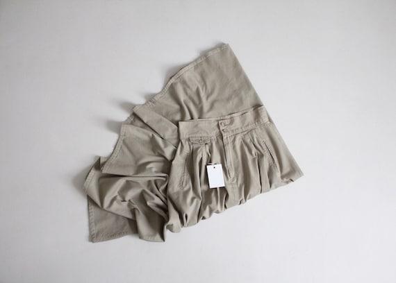 full khaki skirt   cotton twill skirt   tan full s