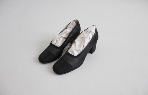 black mesh heels 8 | sheer black heels 7.5 | see … - image 7