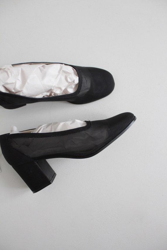 black mesh heels 8 | sheer black heels 7.5 | see … - image 2