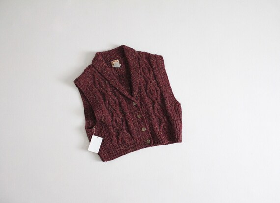 marled wool sweater vest | mulberry sweater | chun