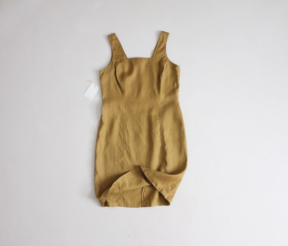 turmeric linen dress | sleeveless tank dress | fit