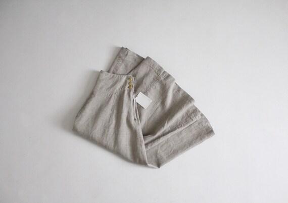 natural linen skirt | full linen skirt | vintage R
