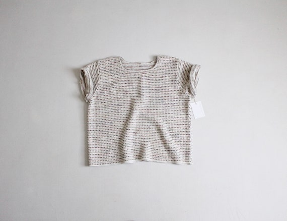woven cotton sweater | neutral textile sweater | s
