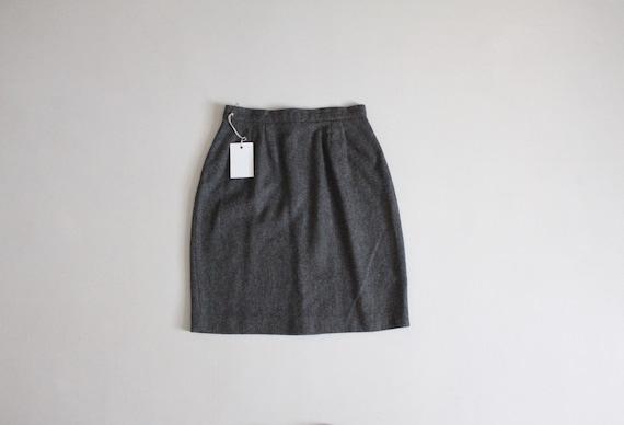 charcoal grey skirt | 100% wool skirt | wool mini