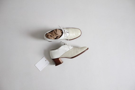 two tone oxfords | spectator booties 6.5 | beige a