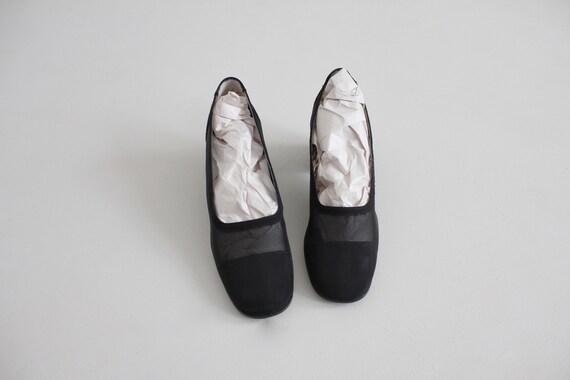 black mesh heels 8 | sheer black heels 7.5 | see … - image 8