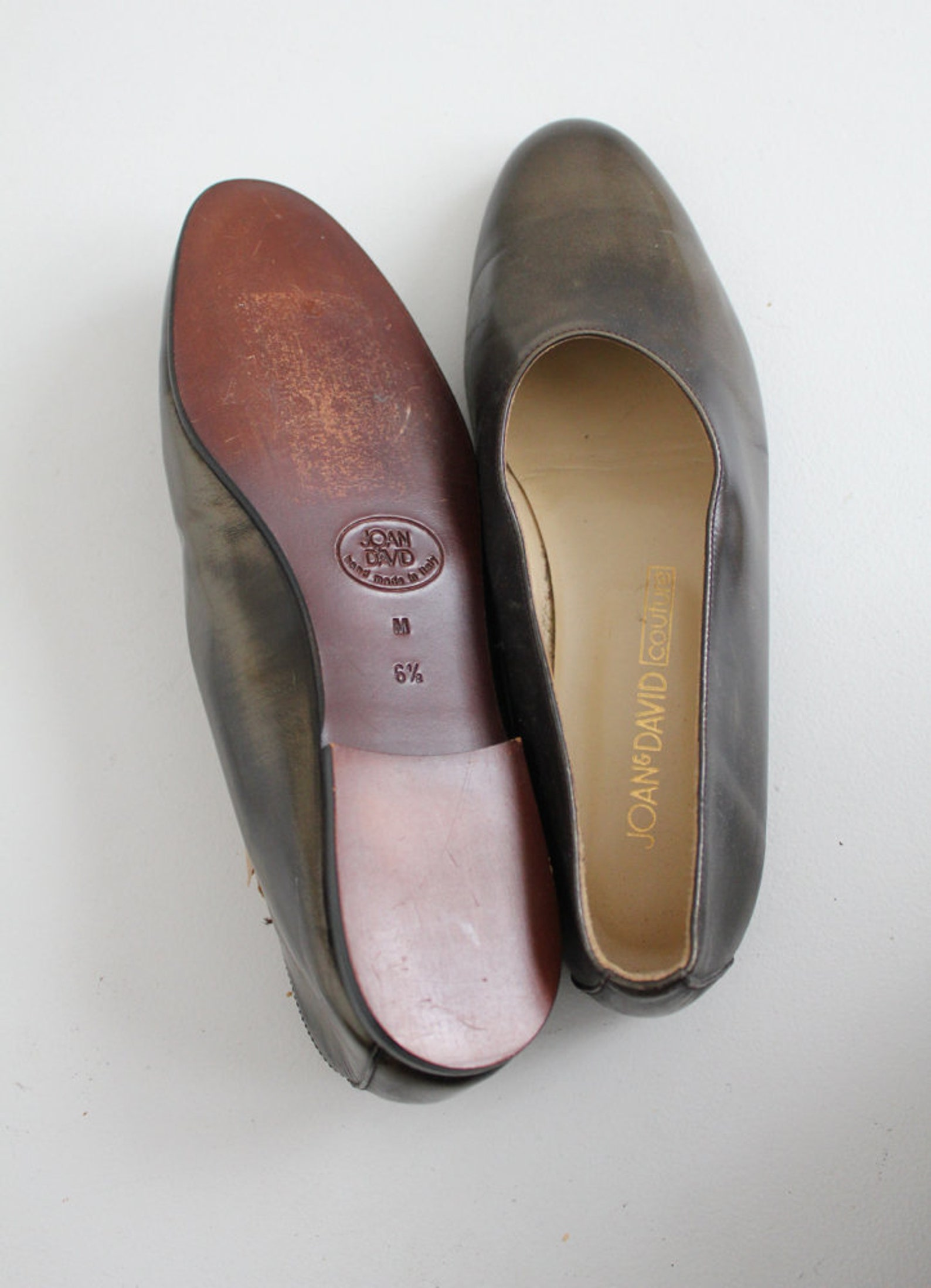 marbled metallic ballet flats | glove shoes 6.5 | metallic leather flats 6