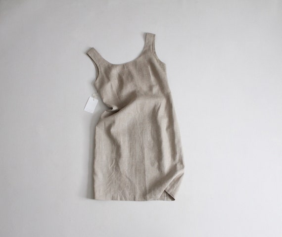 natural linen dress   linen tank dress   fitted li