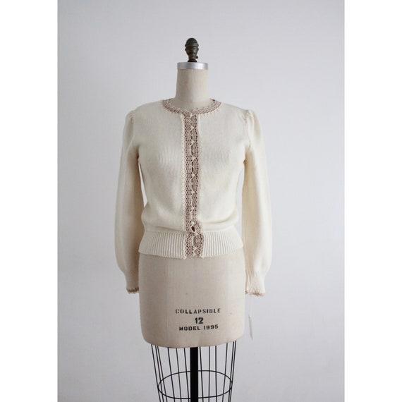 beige lace cardigan | cream cotton cardigan | crea