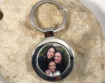 Large Circle Custom Photo Keychain