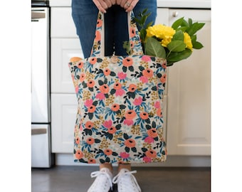 81252dda5c Floral canvas tote