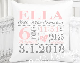 personalized baby pillow etsy