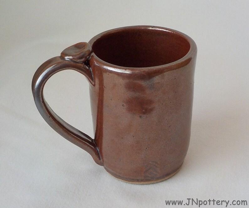 Ceramic Mug  Stoneware Coffee Cup  Handmade Pottery  Rich Iron image 0