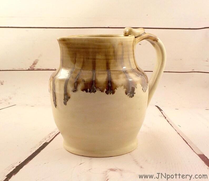 Ceramic Quart Jug  Stoneware  Pitcher  Sangria Pourer or Water image 0