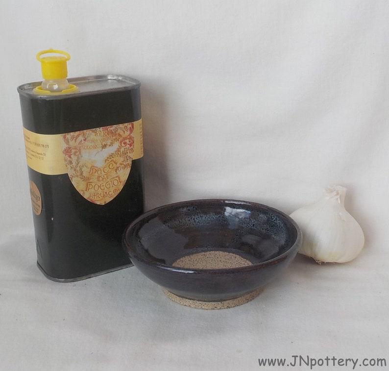 Ceramic Garlic Grater  Handmade Grating Dish  Stoneware Ginger image 0