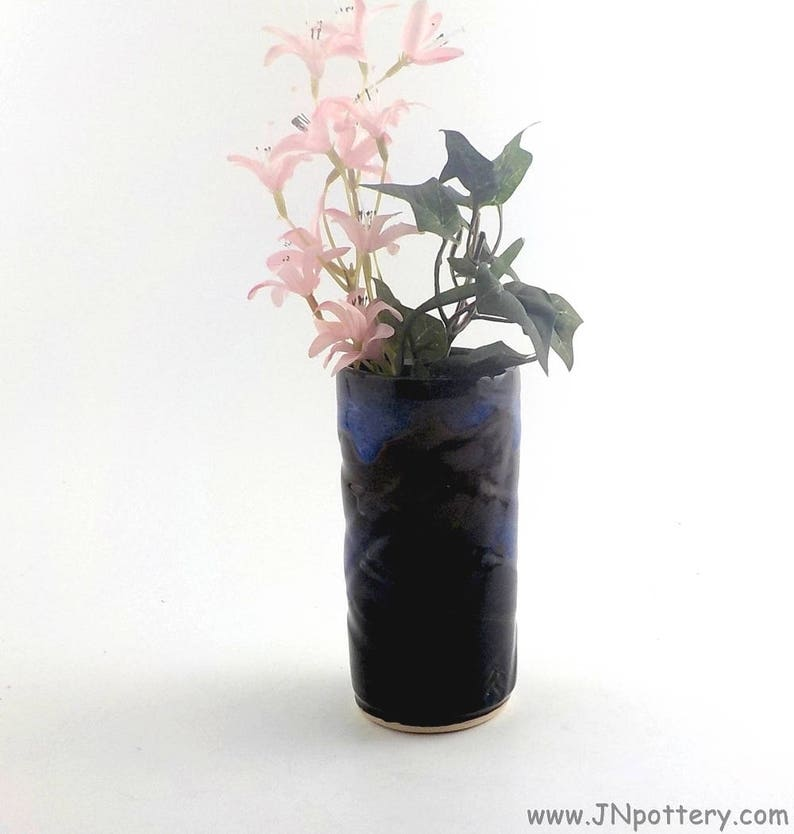 Stoneware Cylinder Vase  Ceramic Artist Brush/Chopstick Holder image 0