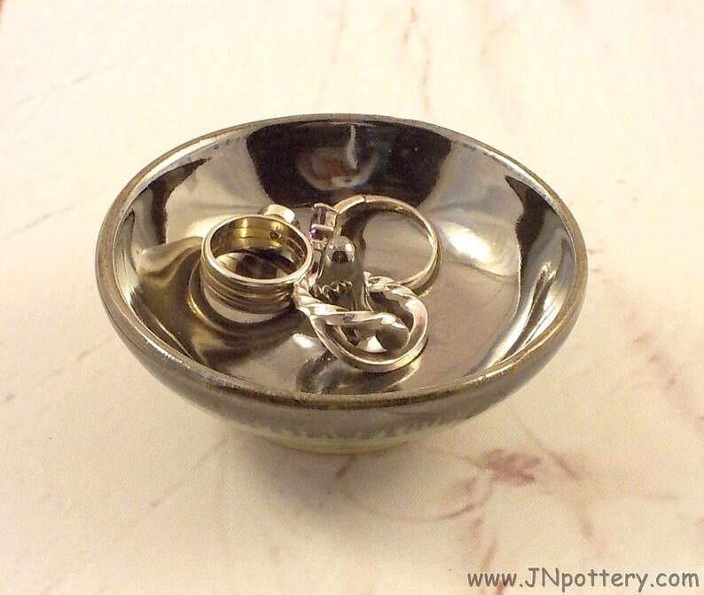 Ceramic Ring Dish  Stoneware Jewelry Tree  Ring Drop  Antique image 0