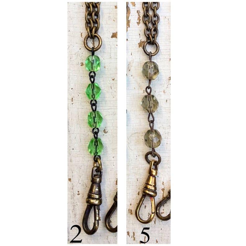 SALE! 1 Handmade haute Lanyard Vintage glass rosary beads DIY supply Charm  Holder Statement necklace  Color Bulk wholesale C145