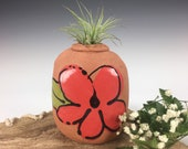 Small Air Plant Vase, Flower Vase, Air Plant Container, Handmade Pottery