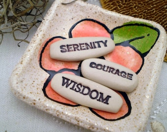 Serenity Courage Wisdom, Serenity Prayer, Meditation Gift, Recovery Gift, Inspirational Gift, Care Package Gift (MSS6)