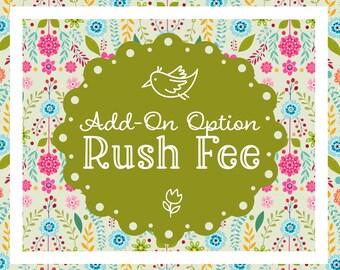 Rush Option. Rush Service.