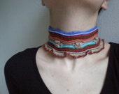 Vivacity ... Freeform Crochet Neckwarmer\/ Necklace