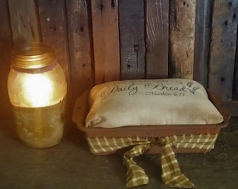 Primitive Look Fake Cinnamon Bread In Rusty Look Loafpan |Farmhouse Decor |Give Us This Day Our Daily Bread