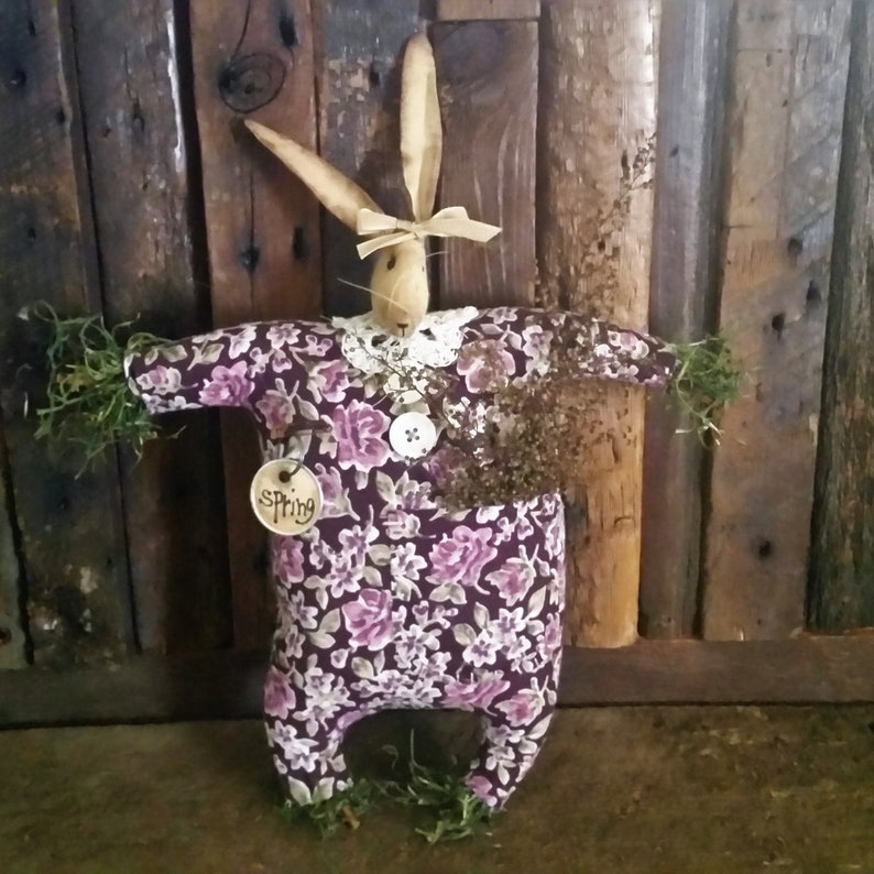 Bunny Doll  Primitive Rabbit  Easter Bunny  Easter Rabbit  image 0
