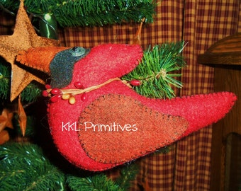 Wool Cardinal Hanging Ornament