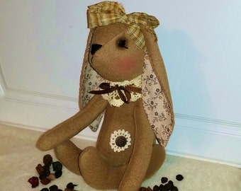 Handmade | Brown | Plush | Bunny | Rabbit | Easter | Decoration
