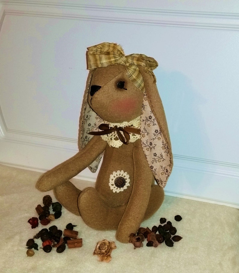 Bunny Doll  Primitive Rabbit  Easter Bunny  Easter Rabbit  image 0