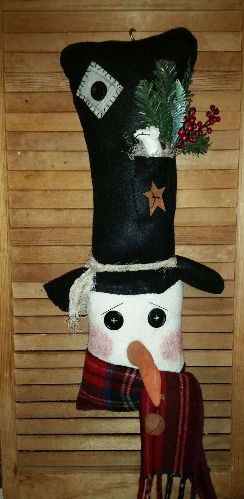 Snowman Wall Decor  Snowman  Primitive Snowman  Winter image 0