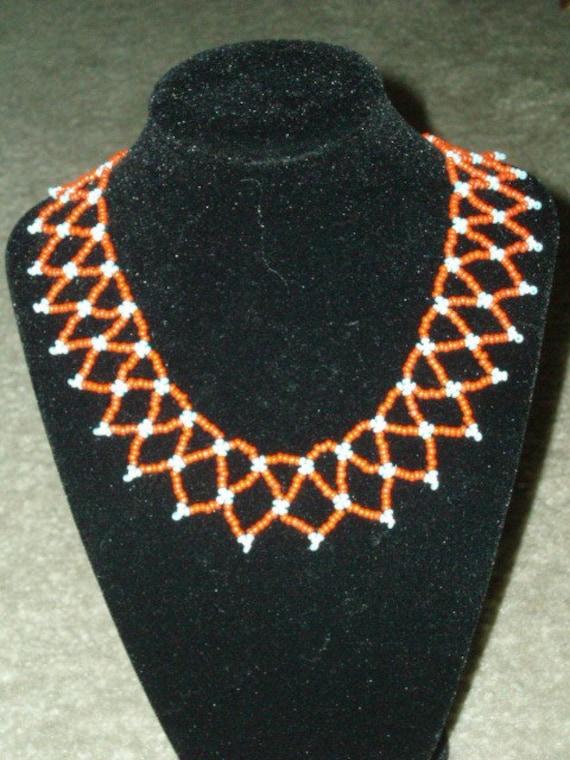 Vintage 1950's Hand Beaded Egyptian Collar
