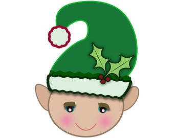 Christmas Clipart Elf Holly Digital Clip Art PNG Scrapbook Cards Personal And Commercial Use
