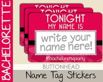 10 Tags de nom partie de Bachelorette - Bachelorette nom étiquettes autocollants