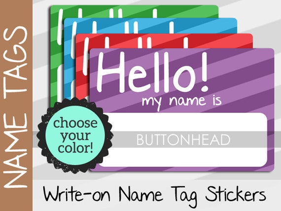 10 hello my name is stickers name tags party class family etsy