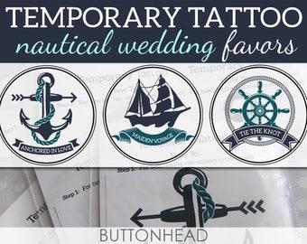 Nautical Wedding Favors Nautical Anchor Ship Wedding Designs - 12 Temporary Tattoos