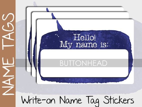 10 blank name tags stickers event conference class etsy