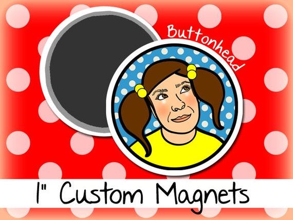 250 small magnets custom bulk wholesale 1 inch round etsy