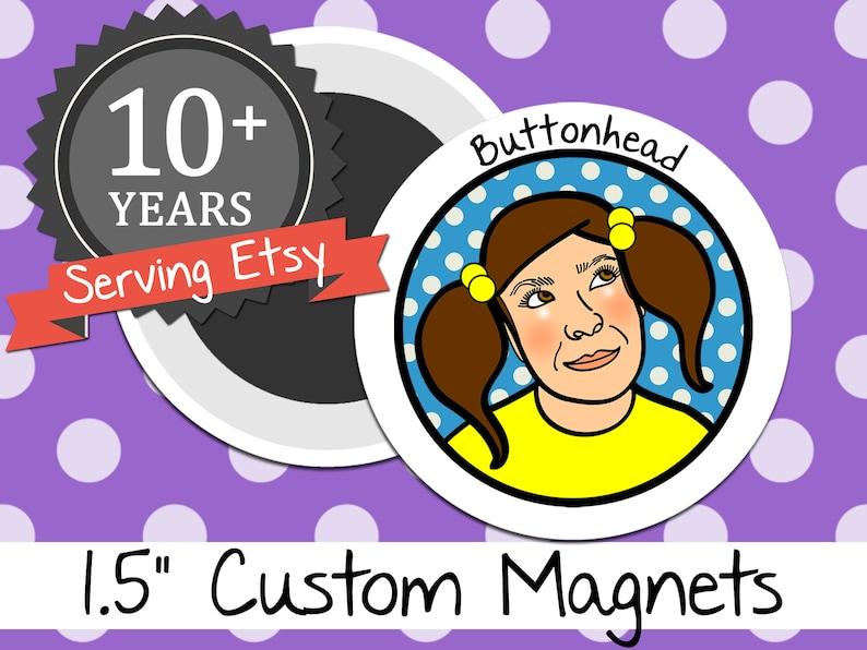 Medium 250 Custom Magnets Bulk 1.5 Inch Round