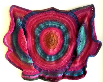 Knit wall hanging - amoeba - wall hanging - free shipping