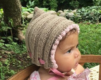 Baby hat knitting kit - pure cashmere - hat knitting kit - Free shipping