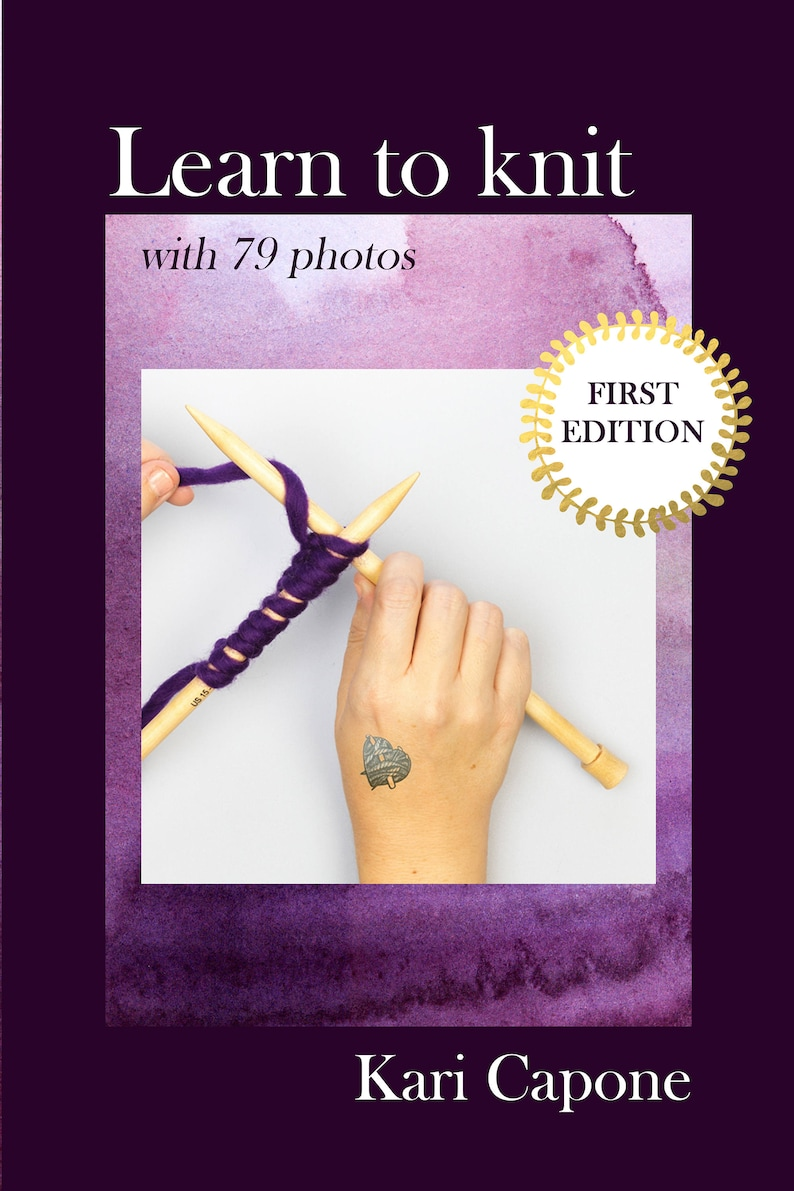 Learn To Knit Ebook Knitting 100 Pages Knitting E Book Etsy