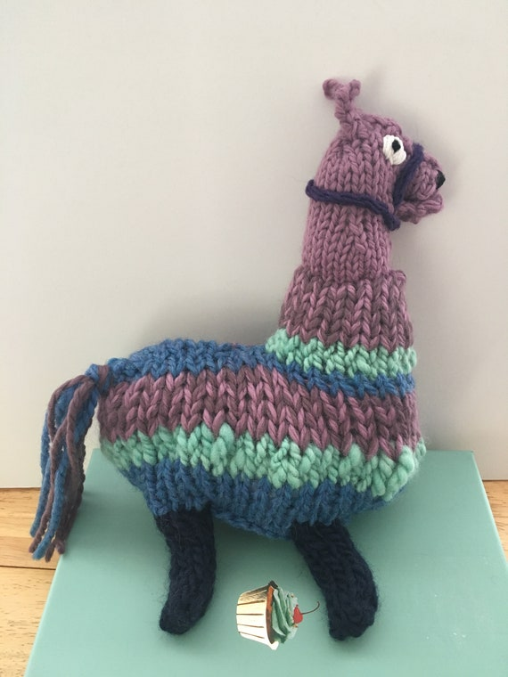 Loot Llama Knitting Pattern Llama Knit Pattern Knit Llama Etsy