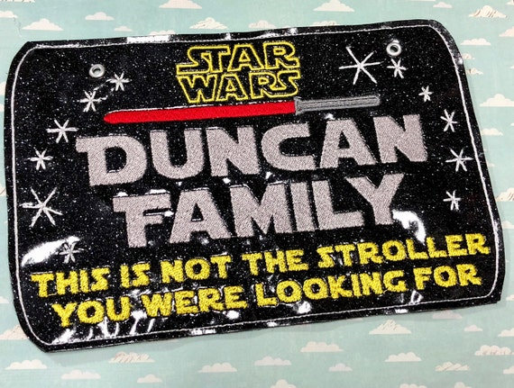 star wars custom sign stroller sign this is not the droid
