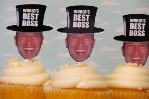 Best Boss Ever Cupcake Toppers Finished And Mailed To You Mens