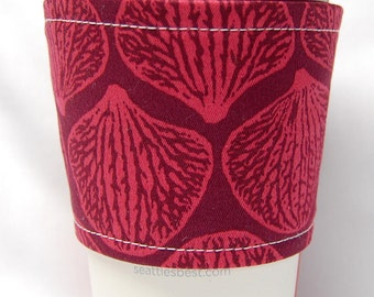 Clearance - Coffee Cozy, Cup Sleeve, Eco Friendly, Slip-on, Teacher Appreciation, Co-Worker Gift, Bulk Discount: Magenta Shells