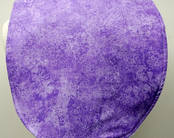 Youth/Junior Girl Bib, Special Needs, Cerebral Palsy, Epilepsy, Retts Syndrome, Drooling, 14-inch neck opening: Purple Butterflies Flowers