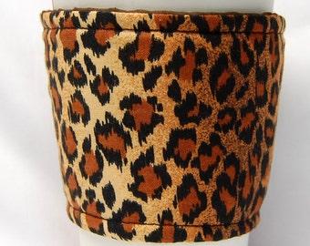 Coffee Cozy, Cup Sleeve, Eco Friendly, Slip-on, Teacher Appreciation, Co-Worker Gift, Bulk Discount: Leopard Print